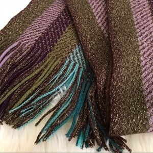 Striped Knit Scarf